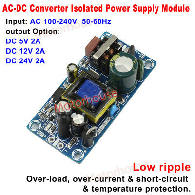 AC-DC Converter AC 110V 220V 230V to 5V 12V 24V  2A Power supply Switching Board