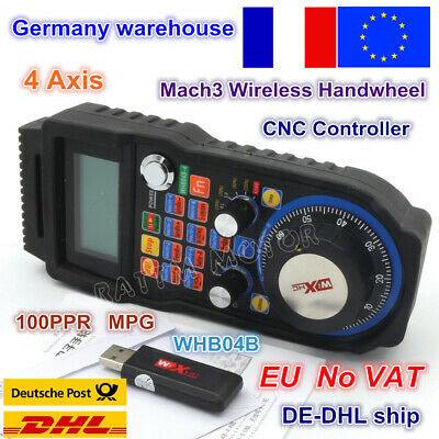 【FR】4 AXIS MACH3 Wireless Pendant Handwheel MPG CNC Lathe Machine USB  Controller