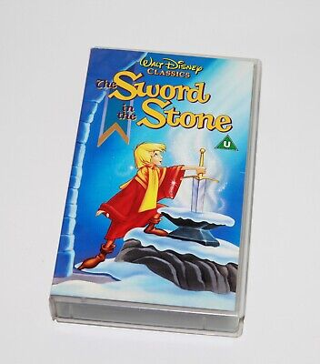 Walt Disney Classics The Sword In The Stone VHS Cassette Video Tape Kid's Film