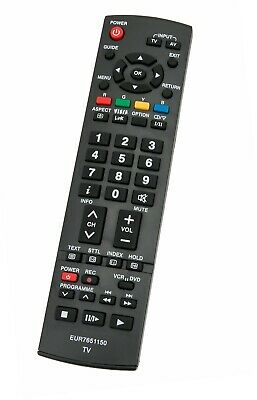 Replaced Panasonic TV Remote EUR7651150 for model TX-26LXD70A TX-32LXD70A