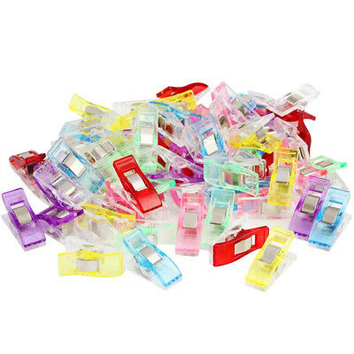 50/60 PCS Colorful Sewing Craft Quilt Binding Plastic Clips Clamps Pack ClipsCA