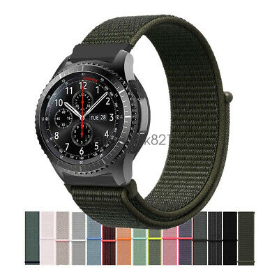 Cinturino Woven Nylon Sport Loop Watch Band per Samsung Gear S3 Classic Frontier