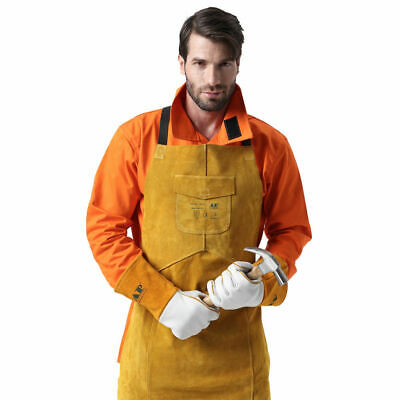 Protective Welding Apron Leather Free Size Wear-resistant Anti-scalding Thicken