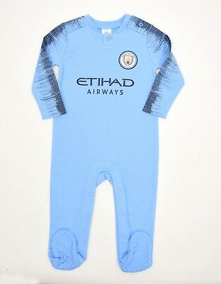 Manchester City FC Official Football Club Kit baby wear gift set Sleepsuit MC800
