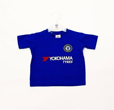 Chelsea FC Official Football Club Kit T-Shirt Gift Babywear kids children CH703