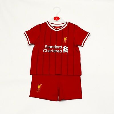 Liverpool Football FC Official Football Club Kit T-Shirt and Shorts Set LFC703