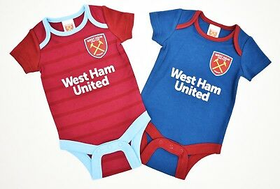 West Ham United 2018-2019 2pk baby official football Kit Bodysuits WH801