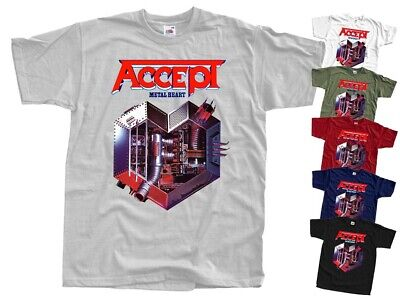 New ACCEPT Metal Heart 1985 T Shirt cover Heavy Metal all sizes S - 5XL