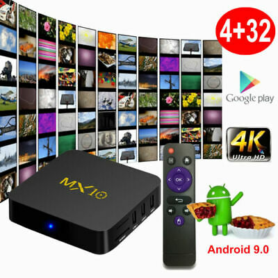 MX10 pro 6K TV Box Android9.0 4GB + 32GB 2.4G Wifi 100Mbps USB 3.0 Media Player
