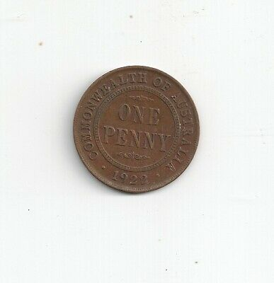 Australia KGV 1922 pre decimal penny good fine condition