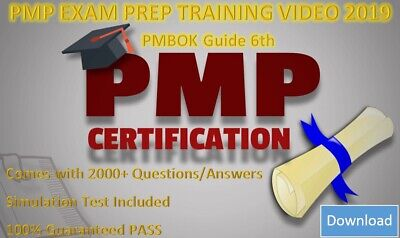 PMP Training Video Course 2019 For PMBOK 6TH & AGILE + Preps + Question bank