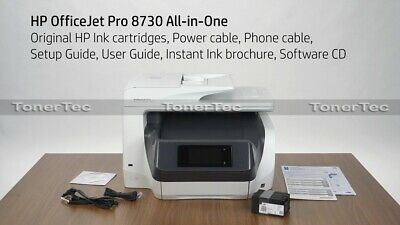 HP OfficeJet Pro 8730 All-in-One Printer+Duplexer+ADF /w 955 Ink set (RRP$477)