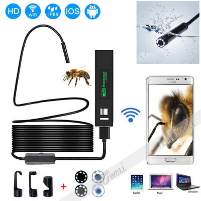 2~10M WiFi 1200P HD Waterproof For Cell Phone Endoscope Inspection Video Camera