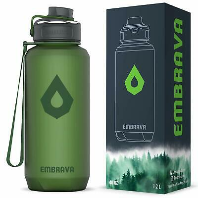 98d75b064d88 EMBRAVA 40OZ WATER Bottle - Large with Travel Carry Ring - Wide Leak Proof  Dr...