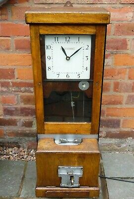 Antique Vintage Oak Cased BLICK NATIONAL Clocking in Machine TimeRecorder Works