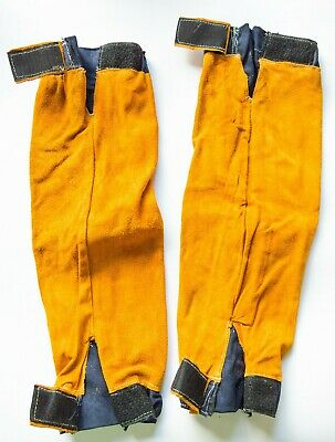 ESAB Welding Leather Sleeves, One Size, Elasticated Cuff & Velcro Arm Fastening