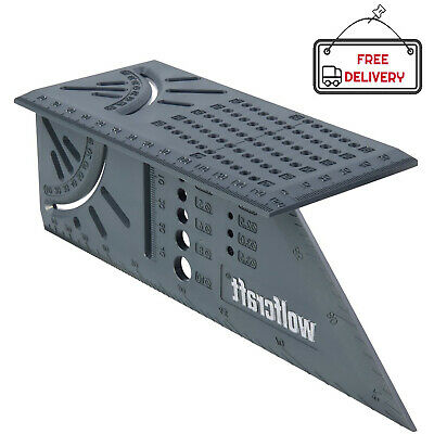 Wolfcraft Mitre Square 3D Angle Limit Stops 45° and 90° 150 x 275 x 66 mm NEW