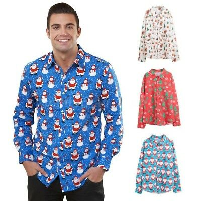 Mens Christmas Shirts Xmas Party Novelty Shirts Christmas in July Costume