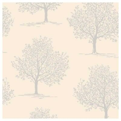 Ideco Blush Lilac Floral Flower Branches Twigs Tree Wallpaper Silver Shine Hint
