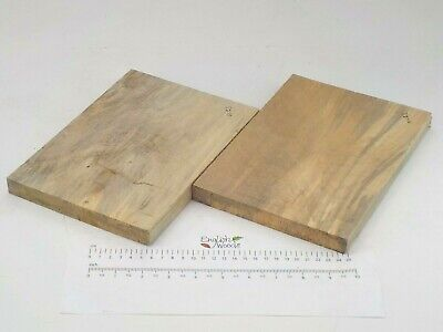 2 Stained English Lime Linden Basswood wood boards. 170 x 235 x 20mm. 3278