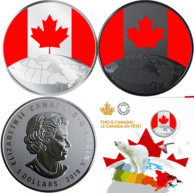 2019 This is Canada Glow-in-Dark 1/4OZ Pure Silver 27mm $5 Coin Canada