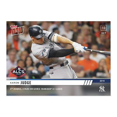 2019 Topps NOW 1009 Aaron Judge Yankees 2 Run HR Gives Lead