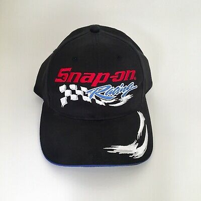 Snap on Racing Embroidered Black Baseball Cap Hat SnapBack Men's SnapOn Tools