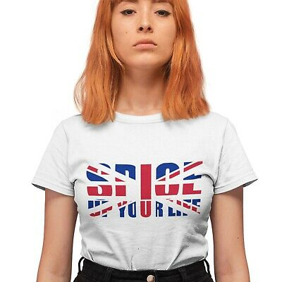Spice Up Your Life T Shirt UNION JACK Girl Power Scary Sporty Baby World Tour