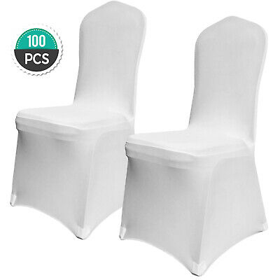 100PCS Chair Cover Slipcovers for Chairs White Dining Chair Cover Removable