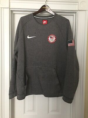 "83d3e3002 NIKE TECH FLEECE Team USA Olympics 2018 Crewneck Men Sz S ""909526 ..."