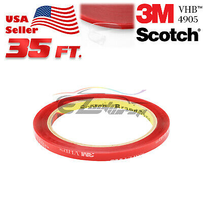 Genuine 3M VHB #4905 Clear Double-Sided Mounting Tape 6mm x 35FT Automotive Car