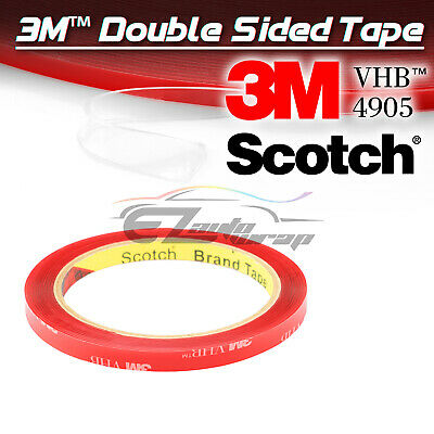 Genuine 3M VHB #4905 Clear Double-Sided Mounting Tape 8mm x 35FT Automotive Car
