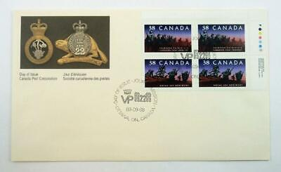 Scarce 1989 Canada First Day Cover with Inscription Plate Block Stamps