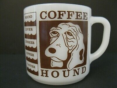 Fire-King Advertising Mug Coffee Hound Minnequa Federal  Credit Union