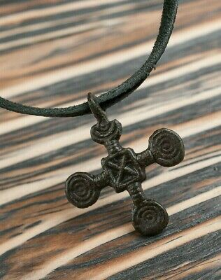 Viking Cross 9th-11th Century AD Norse Ancient Pendant depicts a Sun Symbols