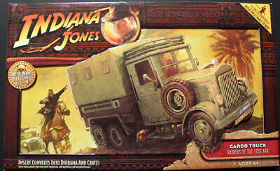 Indiana Jones Cargo Truck Raiders Of The Lost Ark Mint In Box W/Whip Dragging