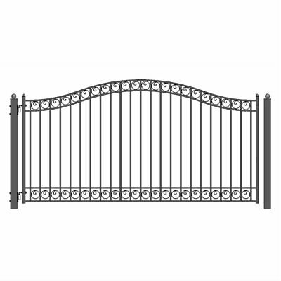 ALEKO Dublin Style Ornamental Iron Wrought Single Swing 12' Driveway Gate