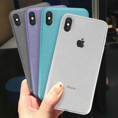 Fashion Glitter Soft Rubber Clear Case Cover For iPhone XS Max XR X 8 7 Plus 6S