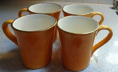 POTTERY BARN Sausalito AMBER Yellow Gold COFFEE CUP EXCELLENT CONDITION