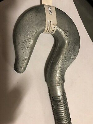 """1"""" x 16"""" Galv. Turnbuckle Hook 5000 lbs. 18"""" Take Up 2ULN6 1 HOOK ONLY"""