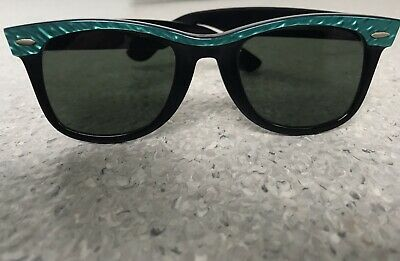 Vintage ray-ban Sunglasses B&L USA Made Street Neat wayfarer Rare Peacock Green