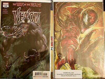 Venom 14 2019 NM  Kyle Hotz Main Cover +  Max Lim Variant Cover Marvel Comics