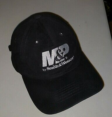69e76b62 M&P by Smith & Wesson Military Police Black Hat Baseball Cap Soft Cotton  Silver