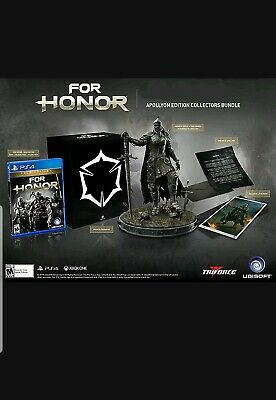 For Honor Apollyon COLLECTOR'S Edition PS4 FACTORY SEALED NEW WITH GAME + STATUE