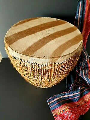 Old African Zebra Skin Drum …beautiful collection & display / accent piece