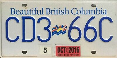 "USA Number Licence Plate CANADA   ""BEAUTIFUL"" BRITISH COLUMBIA"