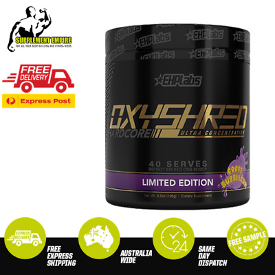 EHP Labs Oxyshred Hardcore Fat Burner Thermogenic Fat Loss 40 serves