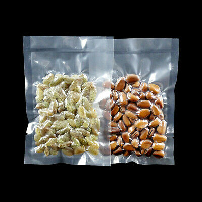 Open Top Plastic Bags Heat Seal  Nylon Clear Vacuum Food Storage Poly Pack Pouch