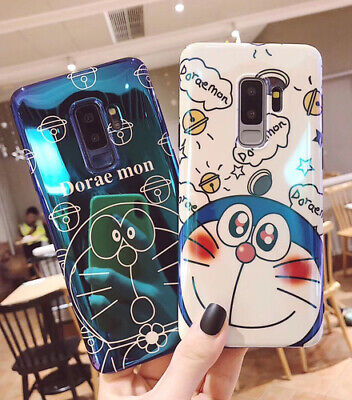Phone case for Samsung S8 S9 S10 Plus Note 8 Note 9 Blue Ray Doraemon Soft Cover