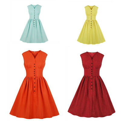 3a82bf2162c1 US Vintage 1940s 50s Rockabilly Style Retro Women's Party Swing Audrey  Dresses